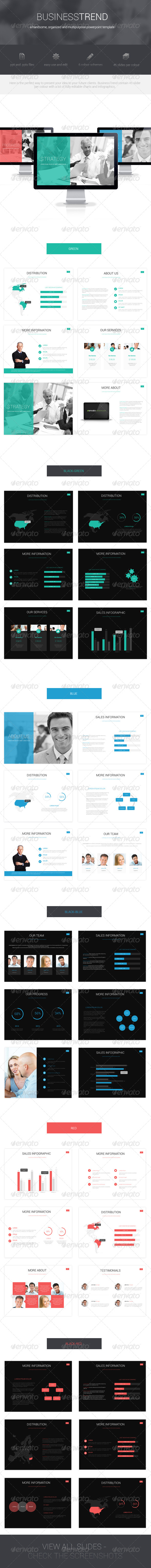 GraphicRiver Business Trend Powerpoint Template 6544817