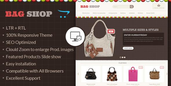 Bag Shop - OpenCart Responsive Theme - Fashion OpenCart