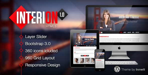 Interion - Responsive One Page HTML Template