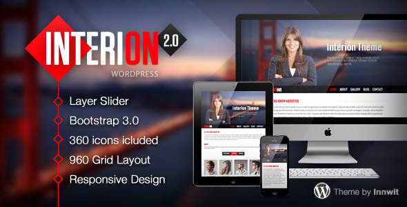 Interion - Responsive One Page WordPress Theme