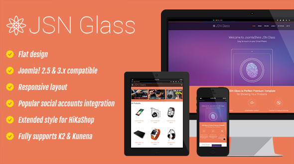 ThemeForest JSN Glass Ecommerce must-have Template 6550547