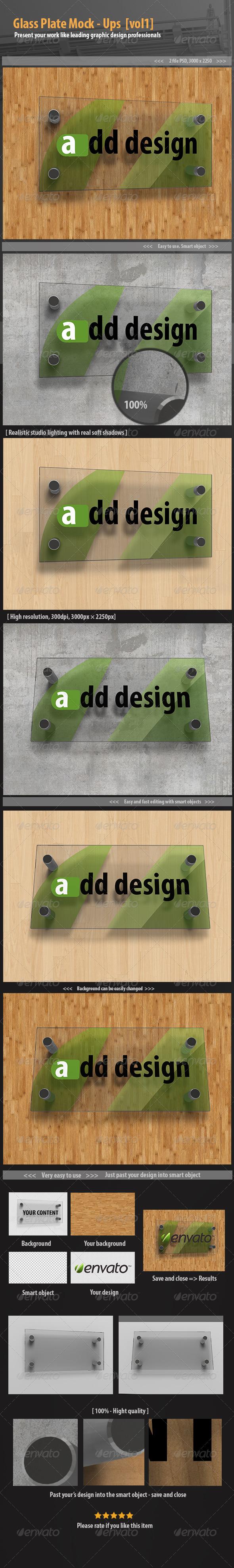 GraphicRiver Glass plate mockups [vol1] 6545480