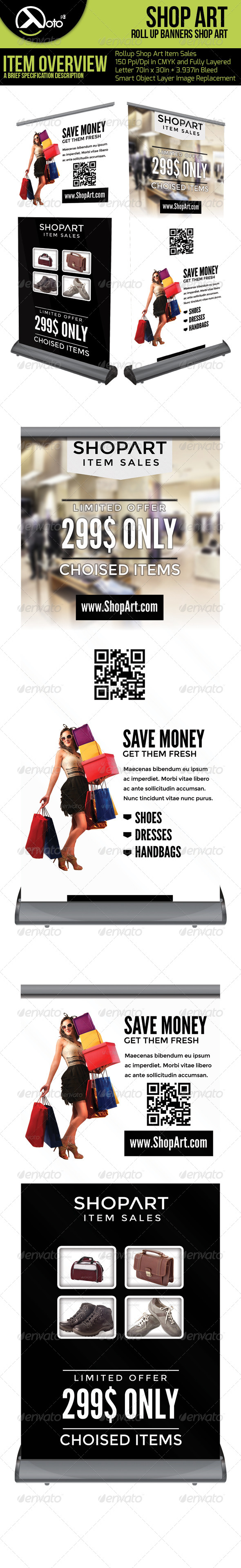 GraphicRiver Shop Art Roll Up Banners 6550593