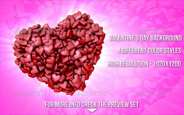 GraphicRiver Valentine s Day Hearts Backgrounds 6550639