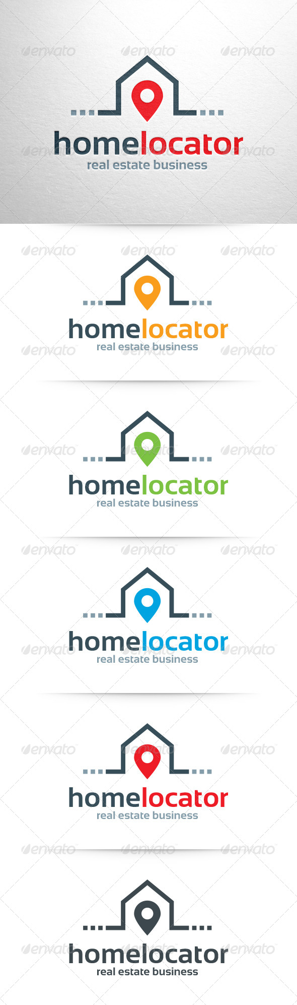 GraphicRiver Home Locator Logo Template 6550758