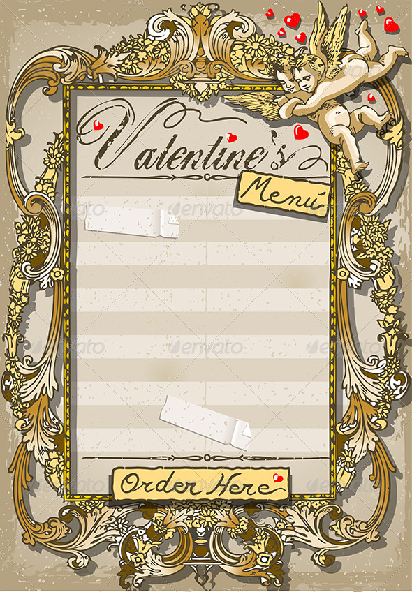 GraphicRiver Vintage Graphic Page for Valentine's Menu 6550942