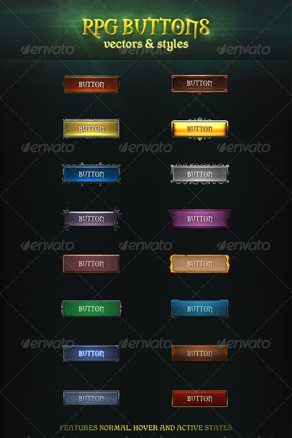 GraphicRiver RPG Buttons 6551126