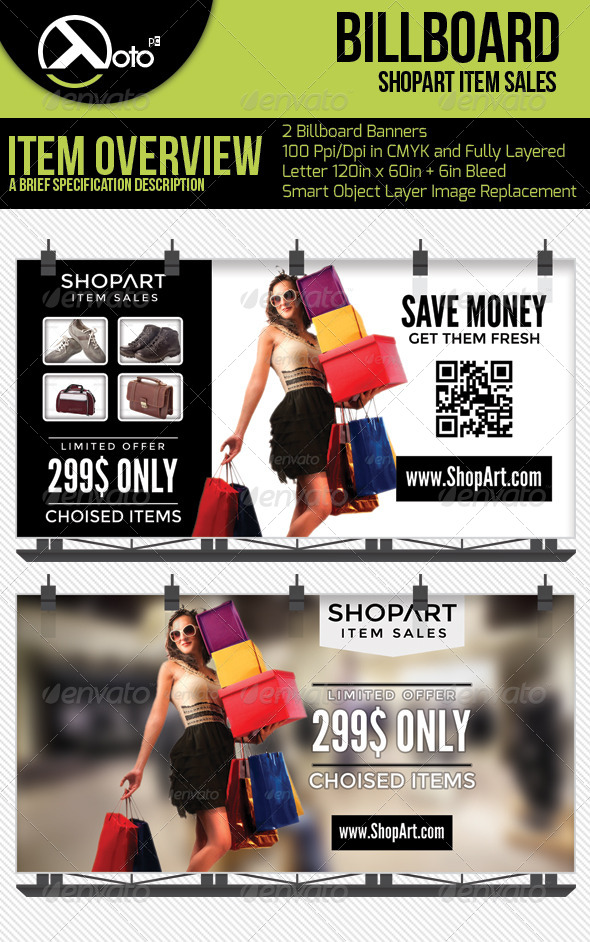 GraphicRiver ShopArt Item Sales Billboard Banners 6551227