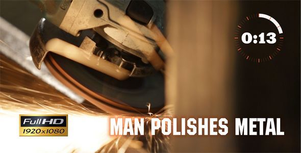 Man Polishes Metal 2