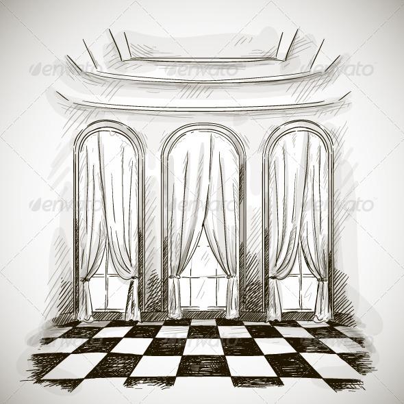 GraphicRiver Sketch of Ballroom 6551586