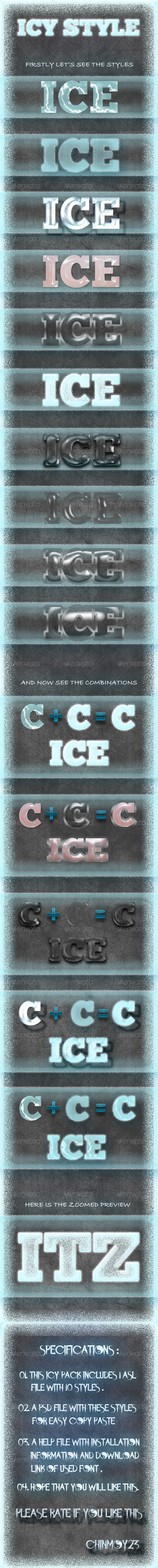 GraphicRiver Icy Text Styles 6551677
