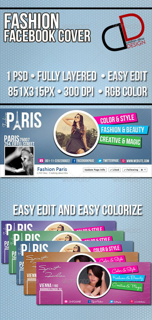 GraphicRiver Fashion Facebook Timeline Cover 6551834