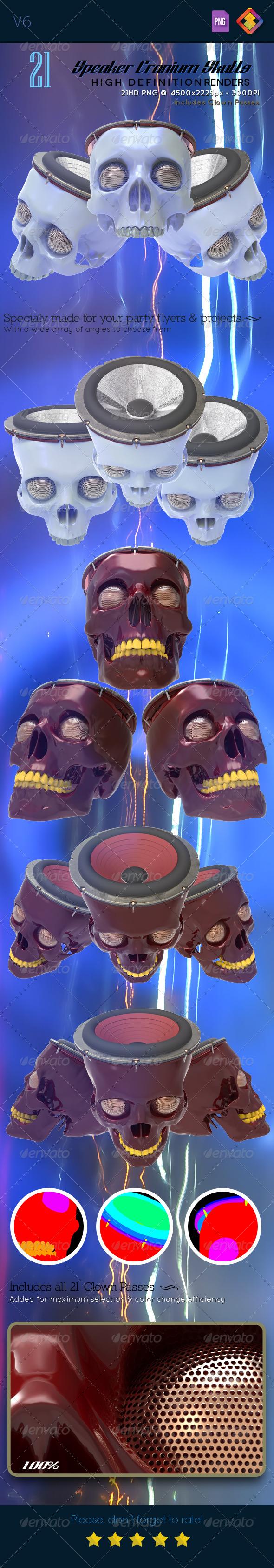 GraphicRiver Speaker Cranium Skull V6 6551864
