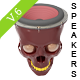 Speaker Cranium Skull V6 - GraphicRiver Item for Sale