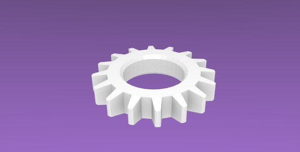 Spur Gear - 3DOcean Item for Sale