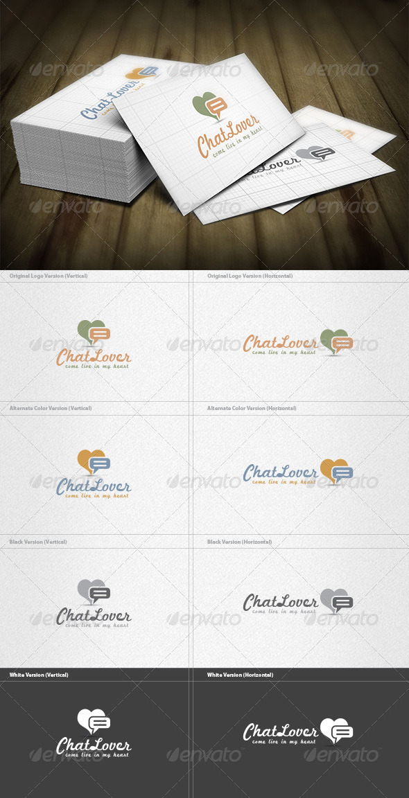 GraphicRiver Chat Lover Logo 6552132