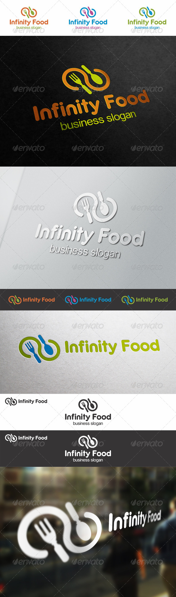 GraphicRiver Infinity Food Logo 6552136