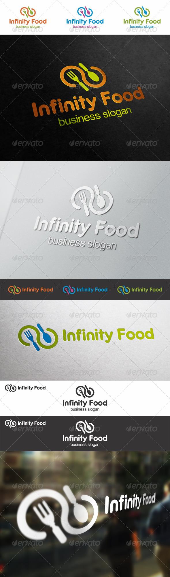 Infinity Food Logo - Food Logo Templates