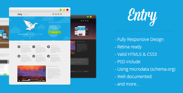 ThemeForest Entry Startup Landing Page 6549973