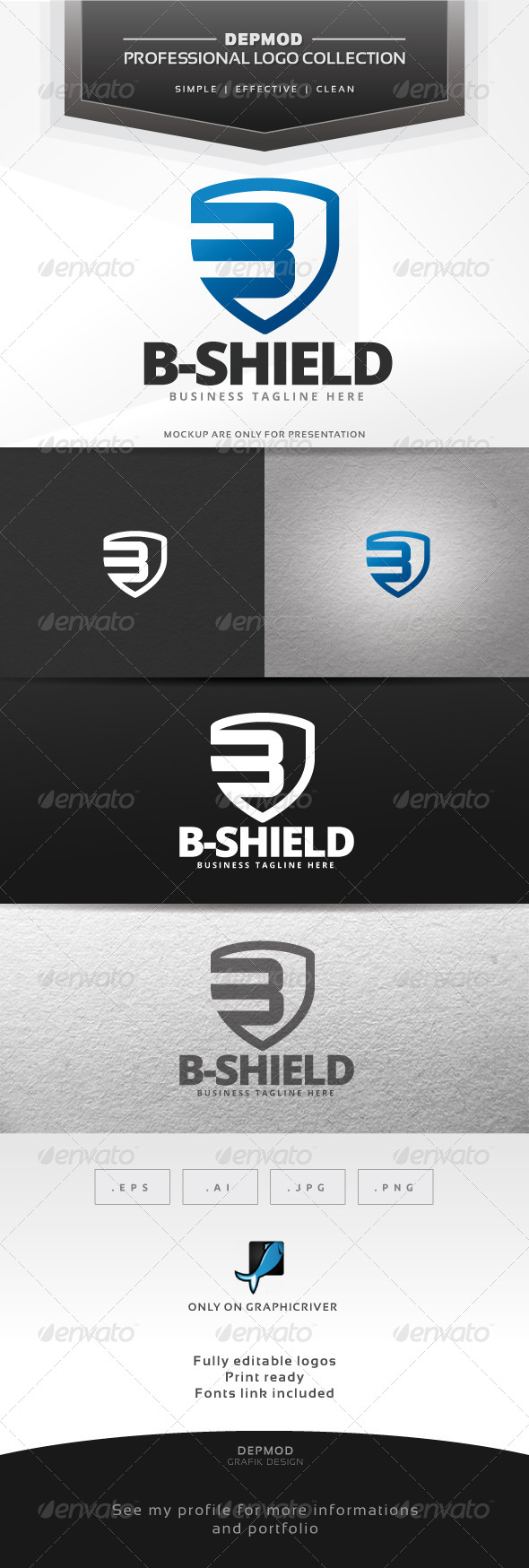 GraphicRiver B-Shield Logo 6552352