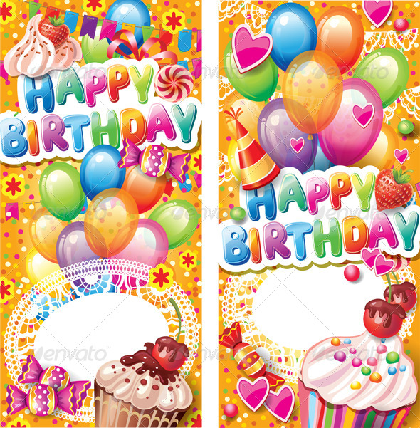 GraphicRiver Happy Birthday Vertical Cards 6552356