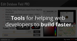 Tools for webdevelopers
