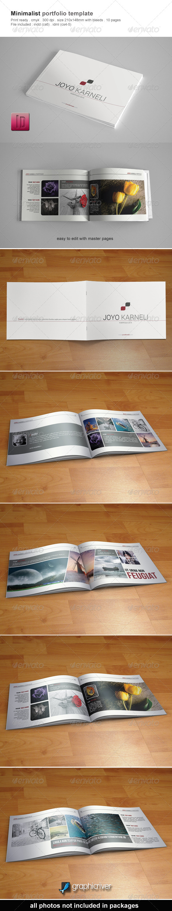 GraphicRiver Minimalist Portfolio Template 6552400