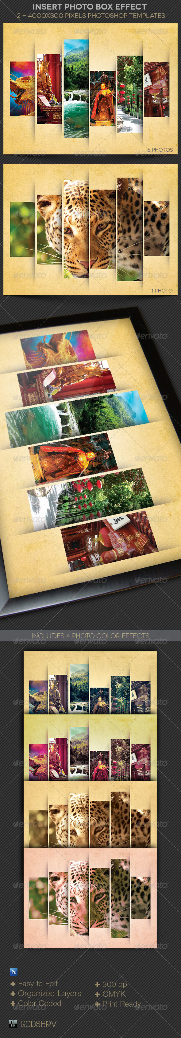 Insert Photo Box Effect Template - Artistic Photo Templates