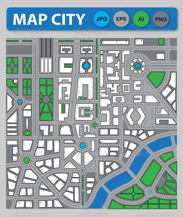 GraphicRiver City Map 6552402
