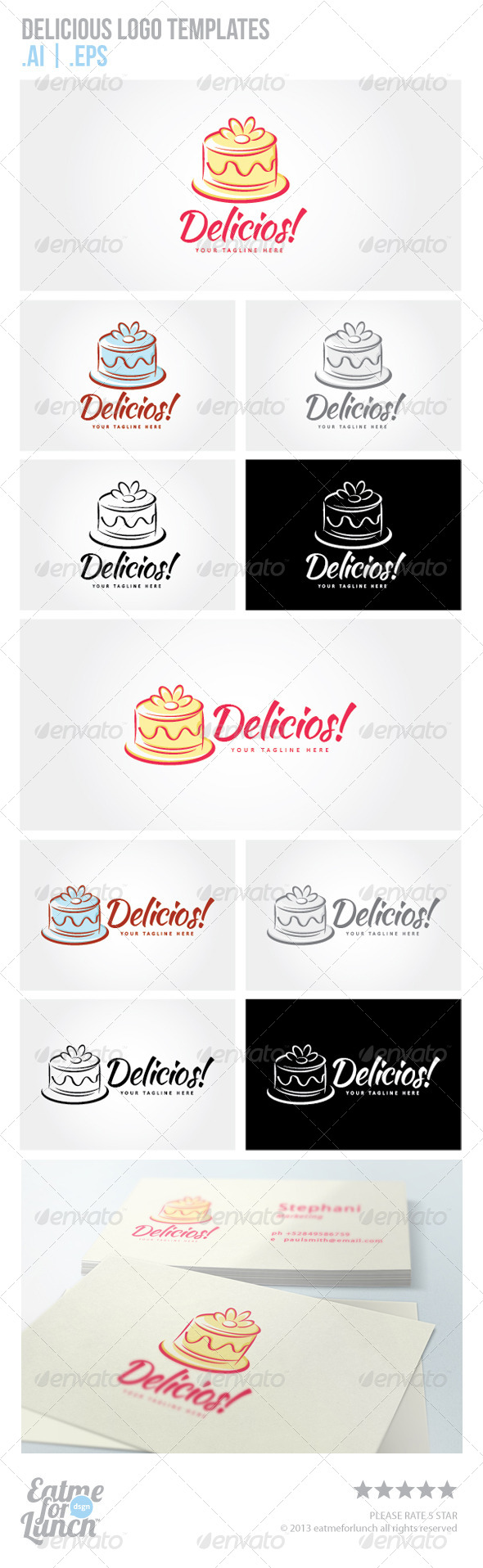 GraphicRiver Cake and Tart Logo Templates 6552405