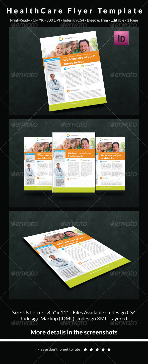 GraphicRiver HealthCare Flyer Template 6537120