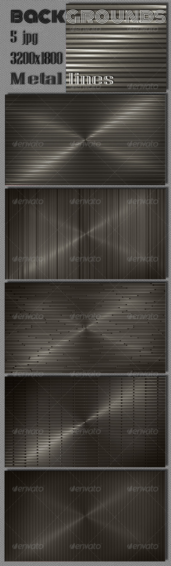 GraphicRiver Web Dark Metal Lines Backgrounds 6552433