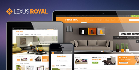 Lexus Royal Opencart Responsive Theme - Shopping OpenCart