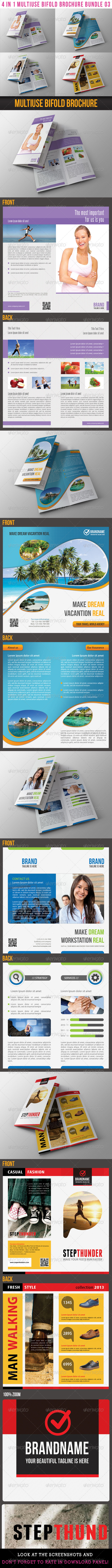 GraphicRiver 4 in 1 Multiuse Bifold Brochure Bundle 03 6552439