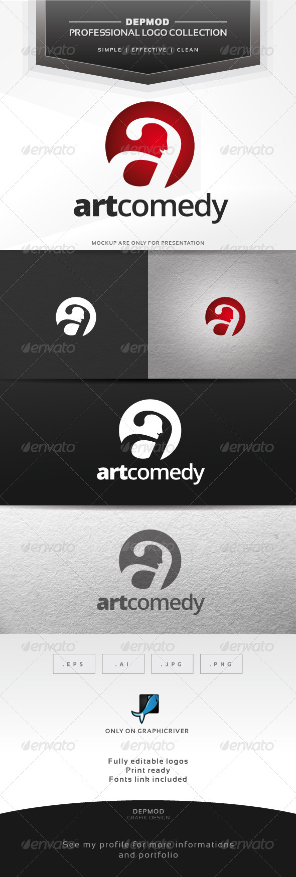 GraphicRiver Art Comedy Logo 6552445