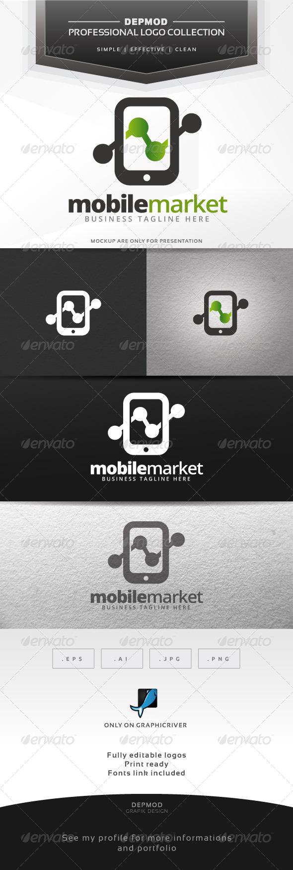 Mobile Market Logo - Symbols Logo Templates