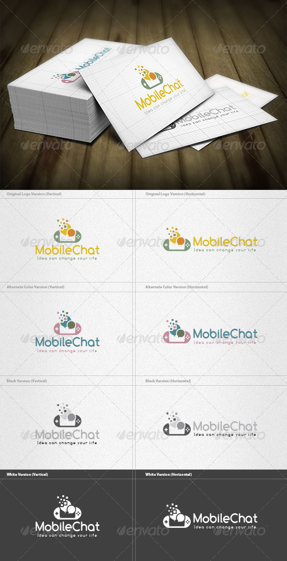 GraphicRiver Mobile Chatroom Logo 6552516