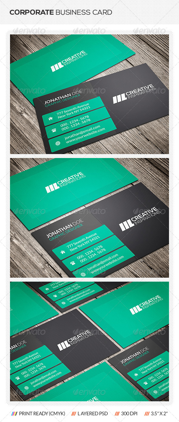 GraphicRiver Corporate Business Card 6552546