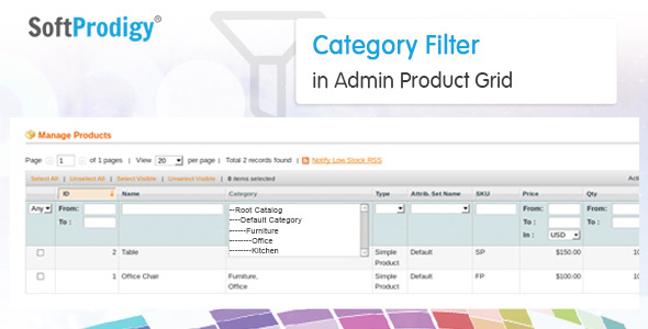 Category Filter in Admin Product Grid