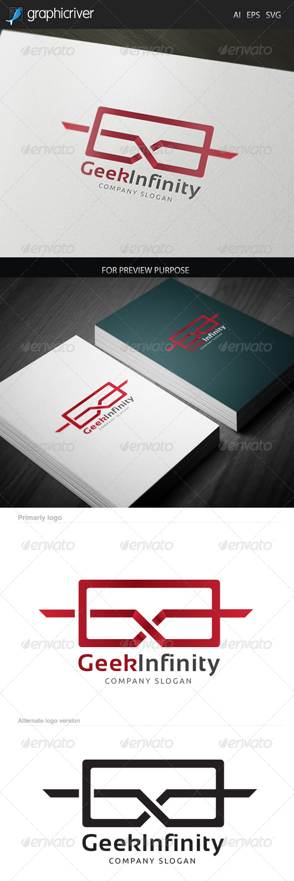 GraphicRiver Geek Infinity Logo 6552668