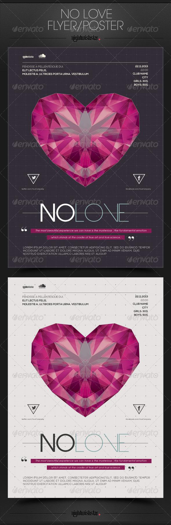 GraphicRiver No Love Valentine Poster Flyer 6552688