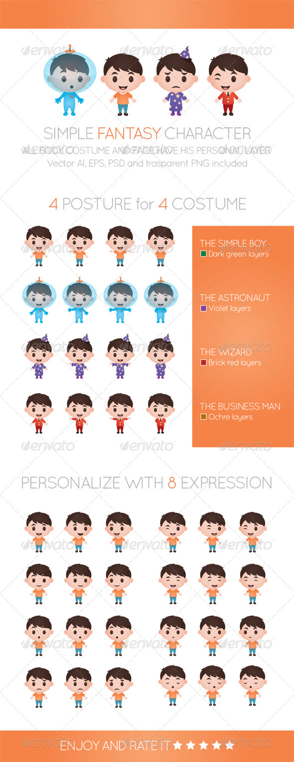 GraphicRiver Simple Fantasy Character 6552689