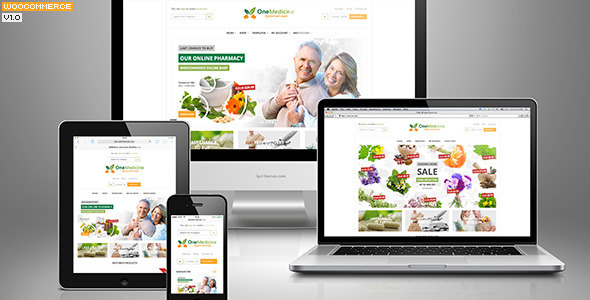 01 Preview.  large preview 123Medicine eCommerce Wordpress Theme (WooCommerce)