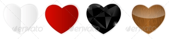 GraphicRiver Set of Hearts 6552724