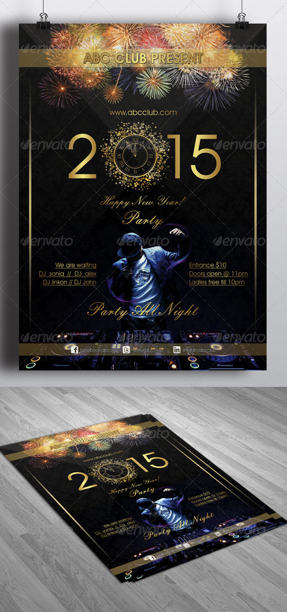 GraphicRiver New Year 2015 Party Flyer 6467880