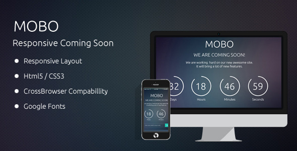 ThemeForest MOBO Coming Soon Template 6549392