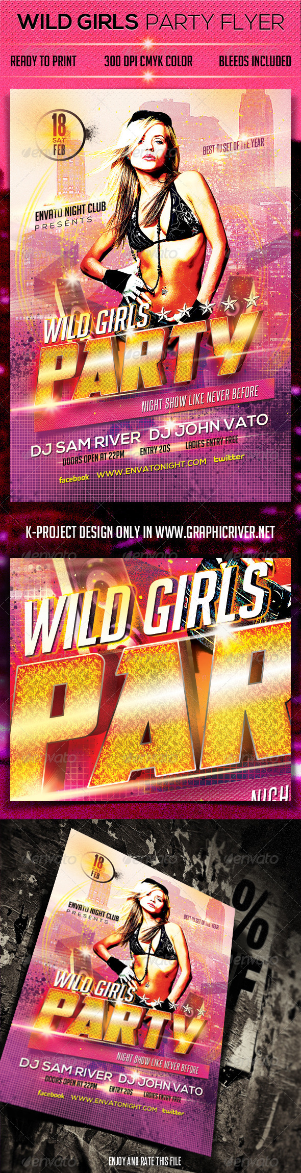 GraphicRiver Wild Girls Party Flyer 6552979