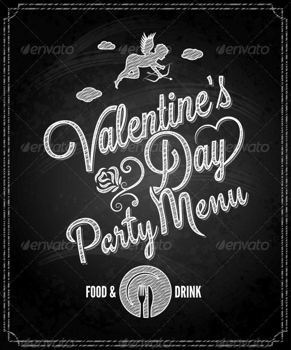 GraphicRiver Valentine s Day Chalkboard Menu 6553385