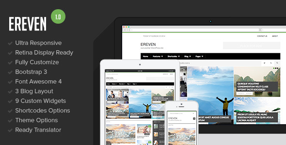 Ereven - Responsive Blog Magazine WordPress Theme