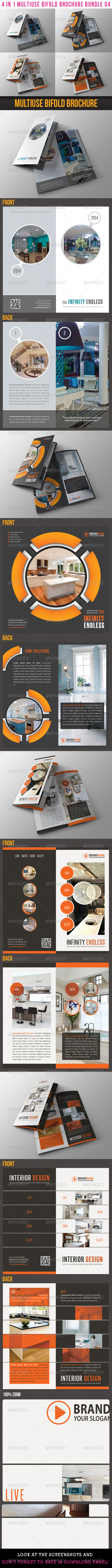 GraphicRiver 4 in 1 Multiuse Bifold Brochure Bundle 04 6553425